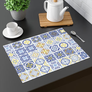 Seville Square Placemat in Blue