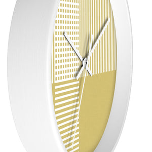 Circle Plaid Wall Clock in Gold