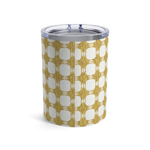 Textured Plaid Tumbler in Gold