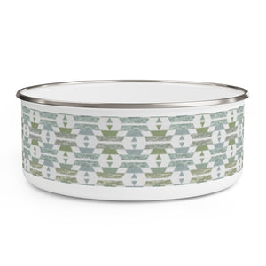 Chinle Enamel Bowl in Green