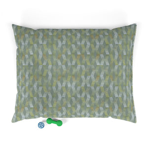 Watercolor Chevron Pet Bed in Aqua
