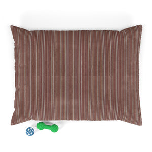 New Mexico Stripe Pet Bed in Red