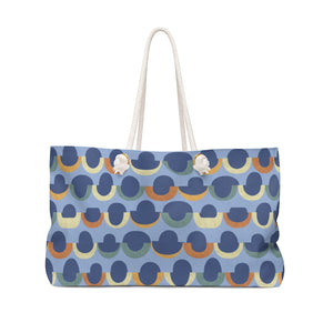Half Moons Weekender Bag in Blue