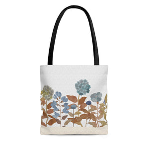 Illustrated Flowers Tote Bag in Orange