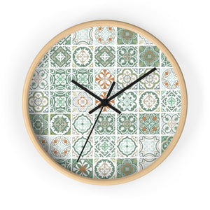Seville Square Wall Clock in Teal