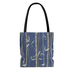 Bamboo Tote Bag in Blue