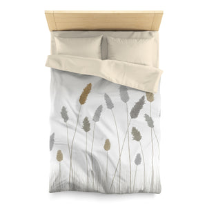 Prairie Microfiber Duvet Cover in Gray
