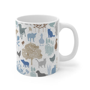 On the Farm Mug in Blue