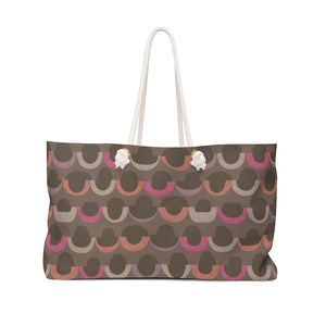 Half Moons Weekender Bag in Pink