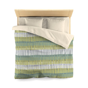 Bryce Canyon Microfiber Duvet Cover in Aqua