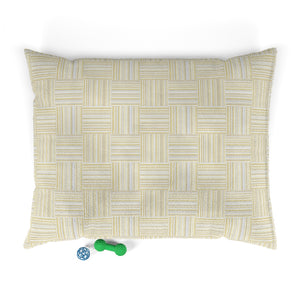 Texture Plaid Pet Bed in Yellow