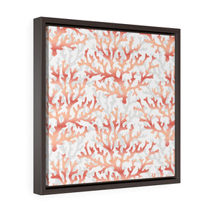 Coral Framed Gallery Wrap Canvas in Coral