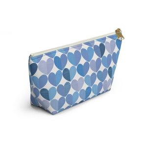 Love Accessory Pouch w T-bottom in Blue