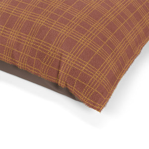 Mini Square Plaid Pet Bed in Orange