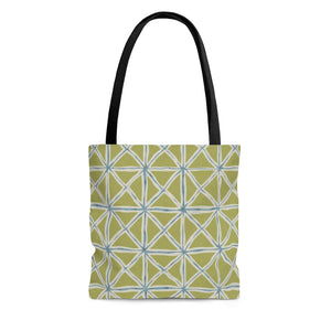 Tie Dye Folds Tote Bag in Green