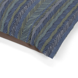 Cross Hatch Stripe Pet Bed in Blue