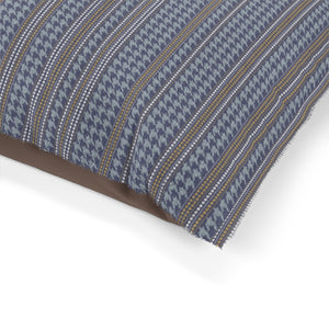 Houndstooth Stripe Pet Bed in Blue