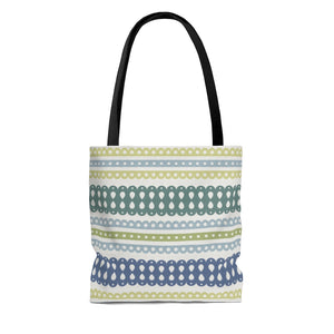 Ribbon Candy Tote Bag in Green