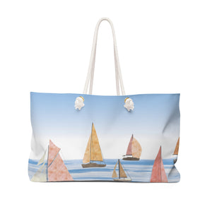 Sailing Weekender Bag in Pink