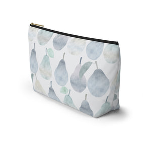 Watercolor Pears Accessory Pouch w T-bottom in Light Blue