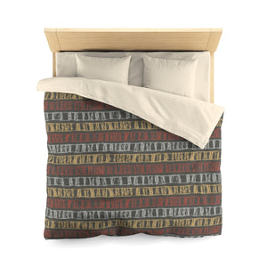 Sketch Stripe Microfiber Duvet Cover in Multi