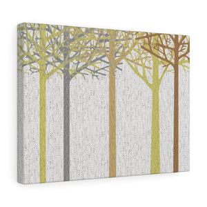 Hingham Woods Wrapped Canvas in Brown