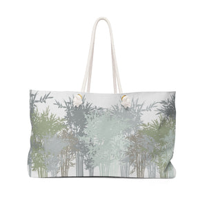 Lucky Bamboo Weekender Bag in Gray