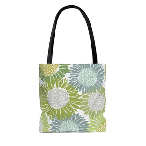 Sunflowers Tote Bag in Green