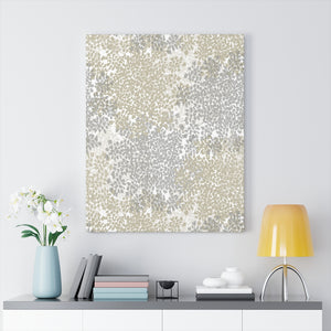 Queen Anne's Lace Wrapped Canvas in Gray