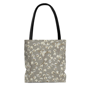 Cotton Branch Tote Bag in Brown