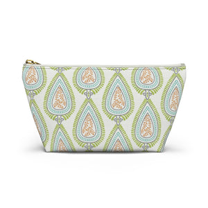Teardrop Accessory Pouch w T-bottom in Green