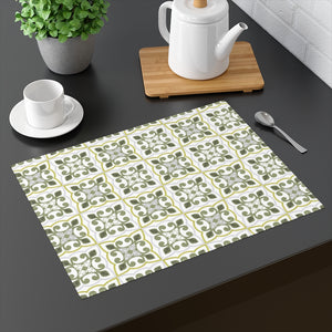 Azulejo Placemat in Lime
