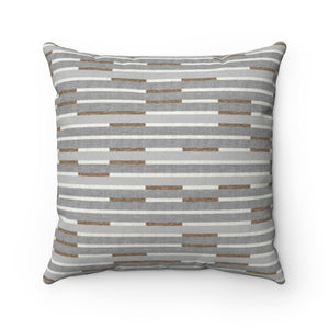 Kinetic Square Throw Pillow in Brown