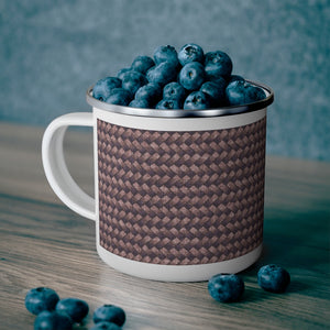Basket Weave Enamel Mug in Purple