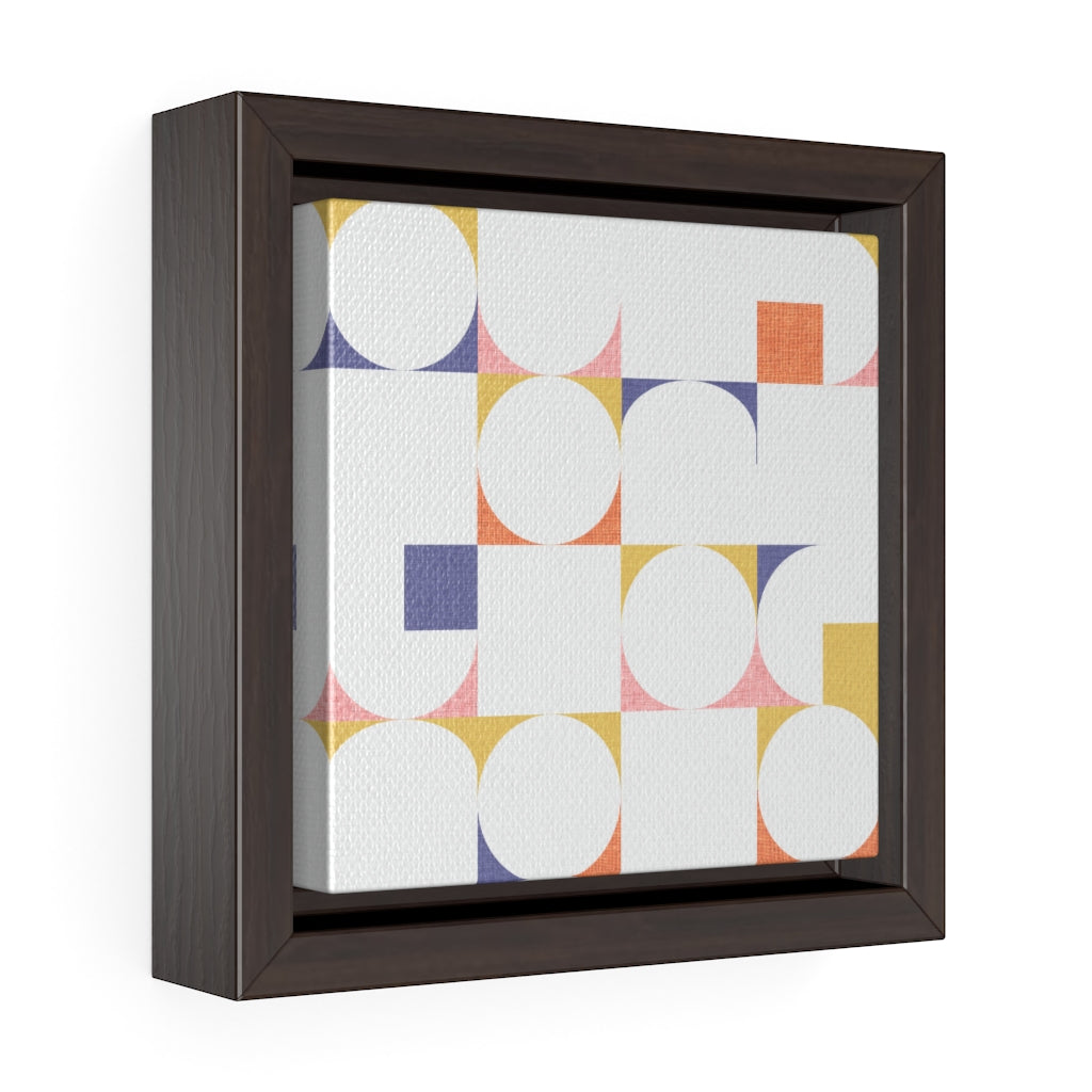 Cooper Mid Century Modern Framed Gallery Wrap Canvas in Gold