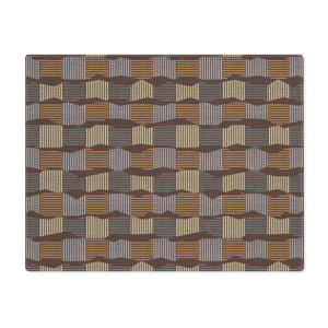 Check Stripe Placemat in Brown