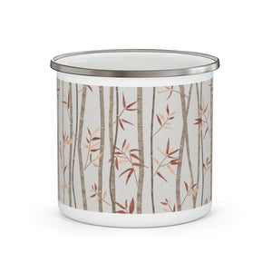 Bamboo Enamel Mug in Brown
