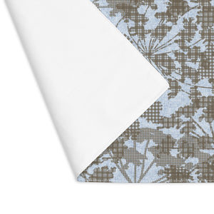 Floral Plaid Placemat in Aqua
