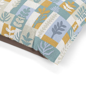 Botanical Paper Pet Bed in Teal