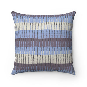 Bryce Canyon Square Throw Pillow in Purple
