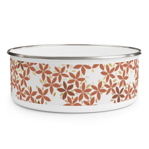 Snowbell Enamel Bowl in Coral