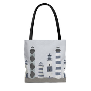 Lighthouses Tote Bag in Blue