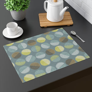 Ping Pong Placemat in Aqua