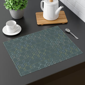 Knit One Placemat in Teal