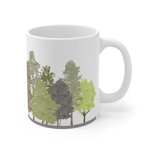 Walk in the Woods Mug in Brown