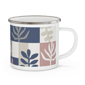 Botanical Paper Enamel Mug in Navy