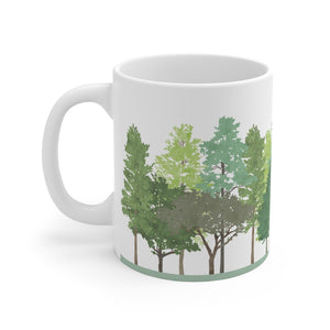 Walk in the Woods Mug in Aqua