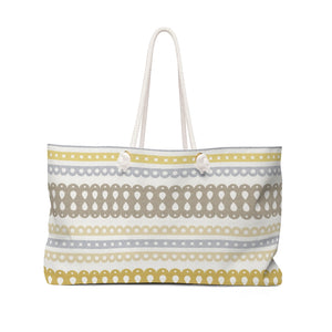 Ribbon Candy Weekender Bag in Yellow