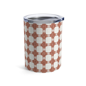 Textured Plaid Tumbler in Coral