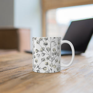 Cotton Branch Mug in Gray